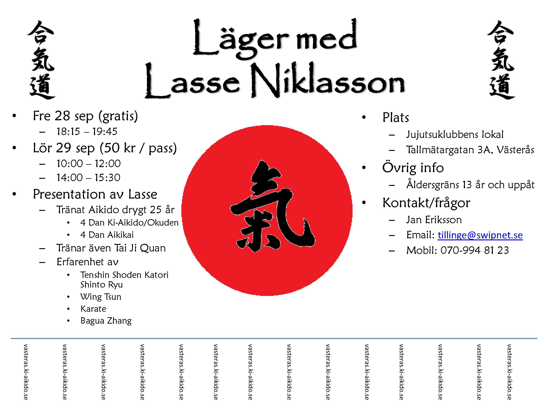 Läger med Lars Niklasson-sensei